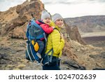 family hike baby boy travelling ... | Shutterstock . vector #1024702639