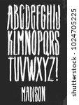 grunge alphabet vector set for... | Shutterstock .eps vector #1024705225