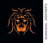 lion head vector logo   Shutterstock .eps vector #1024706971