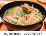 a delicious bowl of sour pork... | Shutterstock . vector #1024707097