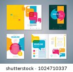 cover book design set  speech... | Shutterstock .eps vector #1024710337