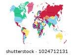 world map vector. | Shutterstock .eps vector #1024712131