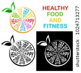 healthy food and fitness. icon... | Shutterstock .eps vector #1024713277