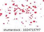 red and pink heart. valentine's ... | Shutterstock . vector #1024715797