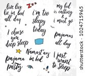 set of quotes about sleep. live ... | Shutterstock .eps vector #1024715965