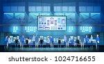 it engineers in big data center ... | Shutterstock .eps vector #1024716655