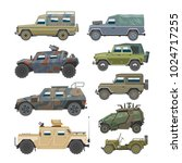 military vehicle vector army... | Shutterstock .eps vector #1024717255