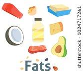 fat food vector healthy diet...   Shutterstock .eps vector #1024717261