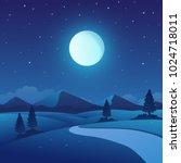 vector illustration of night...   Shutterstock .eps vector #1024718011