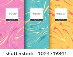 chocolate bar packaging set.... | Shutterstock .eps vector #1024719841
