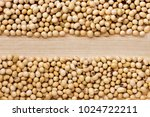 a pile of soybeans  divided... | Shutterstock . vector #1024722211
