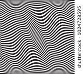 wavy geometric pattern. vector. ... | Shutterstock .eps vector #1024728595