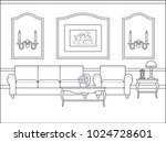 room interior. vector. home... | Shutterstock .eps vector #1024728601
