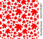 red maple leaves seamless... | Shutterstock .eps vector #1024729387