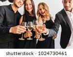 blur portrait of cute curly... | Shutterstock . vector #1024730461