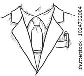 vector sketch hand drawn... | Shutterstock .eps vector #1024732084
