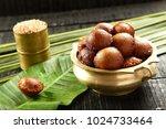 unniyappam is a   rice  snack... | Shutterstock . vector #1024733464