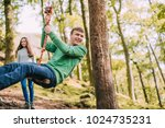 teenagers are having fun on a... | Shutterstock . vector #1024735231