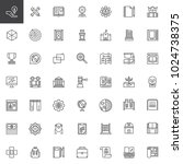 knowledge outline icons set.... | Shutterstock .eps vector #1024738375