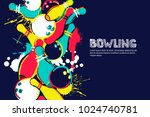 Vector Bowling Horizontal Dark...