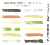 watercolor  ink or paint brush... | Shutterstock .eps vector #1024741729