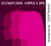 international women's day... | Shutterstock .eps vector #1024744669