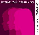 international women's day... | Shutterstock .eps vector #1024744669