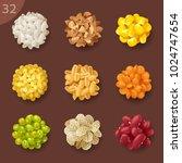 food ingredients. grain | Shutterstock .eps vector #1024747654