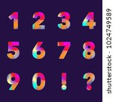 collection of digits. numbers ...   Shutterstock .eps vector #1024749589