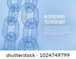 block chain. crypto currency.... | Shutterstock .eps vector #1024749799