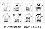 vector cartoon sketch animals... | Shutterstock .eps vector #1024751161