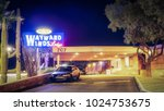 Small photo of Editorial February 2, 2018: Wayward Winds Lodge in Tucson Arizona entry to motel at night