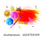 creative banner design with dry ... | Shutterstock .eps vector #1024755199