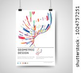abstract colorful poster design ... | Shutterstock .eps vector #1024757251