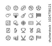 sports icon set outline... | Shutterstock .eps vector #1024758121
