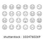 simple set of emoticons .... | Shutterstock .eps vector #1024760269
