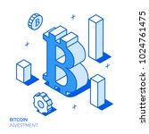 isometric bitcoin investment... | Shutterstock .eps vector #1024761475