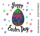 hand sketched happy easter text ... | Shutterstock .eps vector #1024764601