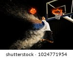basketball player in action in...   Shutterstock . vector #1024771954