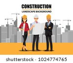 business engineer and worker ... | Shutterstock .eps vector #1024774765
