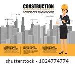 business engineer and worker ... | Shutterstock .eps vector #1024774774