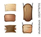 cartoon wooden signboards | Shutterstock .eps vector #1024778731