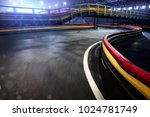 cart race track finish line in... | Shutterstock . vector #1024781749
