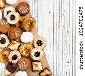 homemade european bakery style...   Shutterstock . vector #1024782475