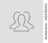 3 businessmen silhouette vector ... | Shutterstock .eps vector #1024783201