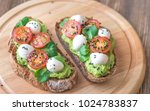 sandwiches with avocado paste ... | Shutterstock . vector #1024783837