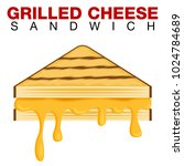 an image of a grilled cheese... | Shutterstock .eps vector #1024784689