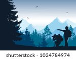 vector illustration of mountain ... | Shutterstock .eps vector #1024784974