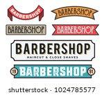 vintage gentleman close shave... | Shutterstock .eps vector #1024785577