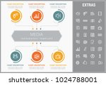 media infographic template ... | Shutterstock .eps vector #1024788001